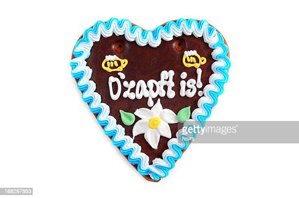 Oktoberfest Ozapft is Gingerbread Cookie in heart shape