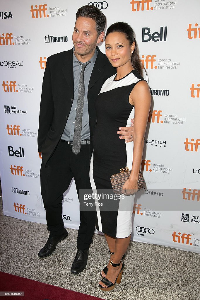 Ol Parker and actress Thandie Newton arrive at the 'Half Of A Yellow Sun' Premiere during the 2013 Toronto International Film Festival at the Winter...