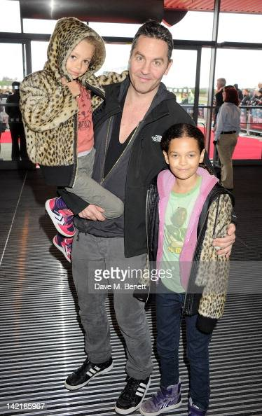 Ol Parker and daughters Nico and Ripley attend the Grand Opening of the Warner Bros Studio Tour London The Making of Harry Potter on March 31 2012 in...