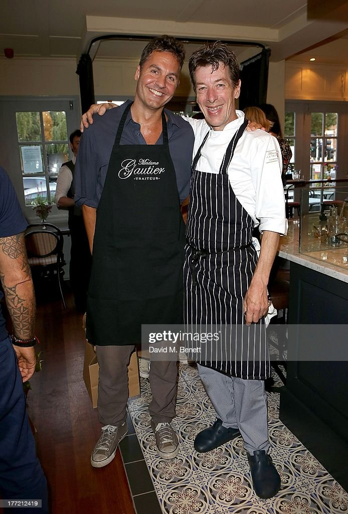 <a gi-track='captionPersonalityLinkClicked' href=/galleries/search?phrase=Ol+Parker&family=editorial&specificpeople=734633 ng-click='$event.stopPropagation()'>Ol Parker</a> and Head Chef and owner Mark Gautier attend the launch party of Madame Gautier on August 22, 2013 in London, England.