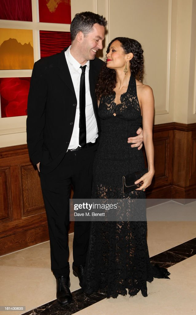 Ol Parker (L) and Thandie Newton arrive at the after party following the EE British Academy Film Awards at Grosvenor House on February 10, 2013 in London, England.