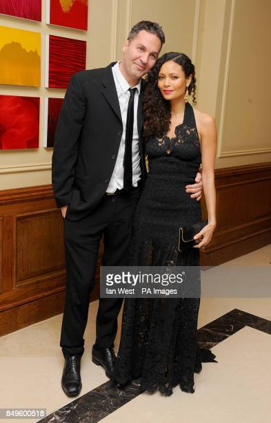Ol Parker and Thandie Newton arrives at the BAFTA afterparty held at the Grosvenor Hotel in London