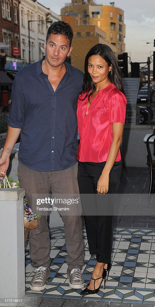 Ol Parker and Thandie Newton attend the launch party of Madame Gautier on August 22, 2013 in London, England.