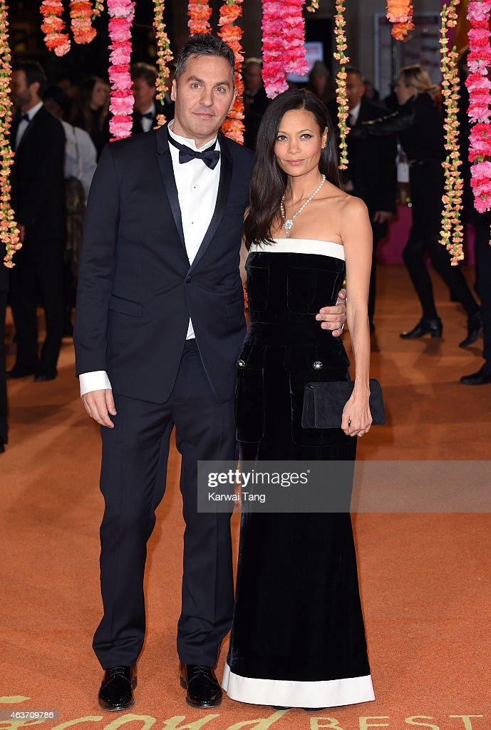 Ol Parker and Thandie Newton attend The Royal Film Performance and World Premiere of 'The Second Best Exotic Marigold Hotel' at Odeon Leicester...