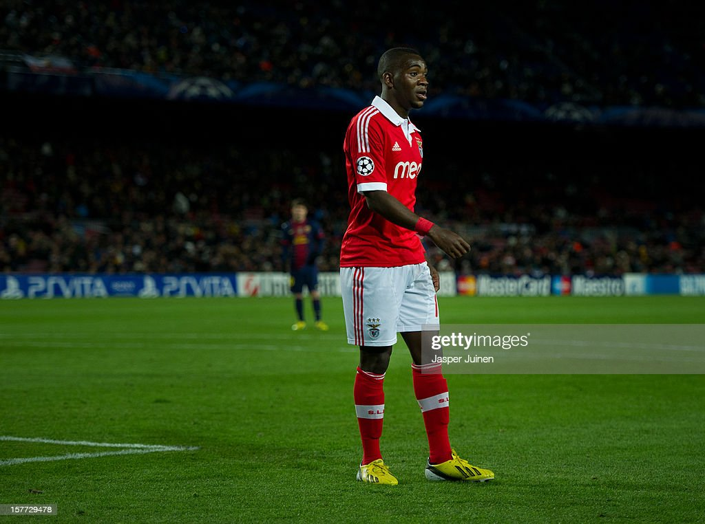 Ola John of SL Benfica looks on during the UEFA Champions League Group G match between FC Barcelona and SL Benfica at the Camp Nou stadium on December 5, 2012 in Barcelona, Spain.