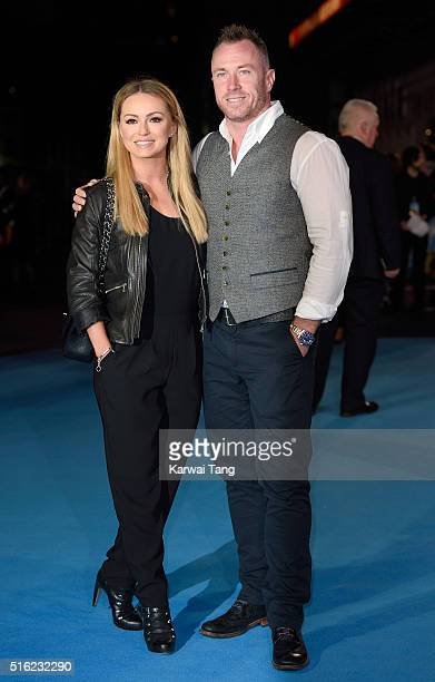 Ola Jordan and James Jordan arrive for the European premiere of 'Eddie The Eagle' at Odeon Leicester Square on March 17 2016 in London England