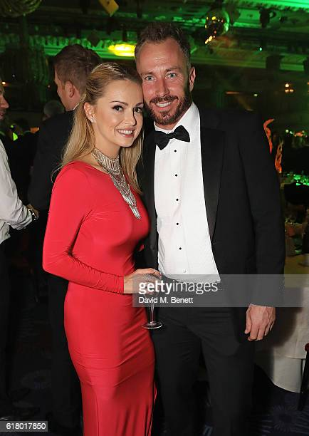 Ola Jordan and James Jordan attend 'An Evening With The Stars' charity gala in aid of Save The Children at The Grosvenor House Hotel on October 25...