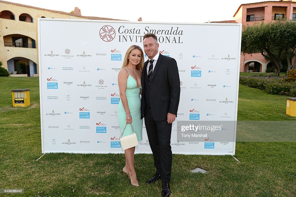 Ola Jordan and James Jordan attend the Gala Dinner during The Costa Smeralda Invitational golf tournament at Pevero Golf Club - Costa Smeralda on June 25, 2016 in Olbia, Italy.