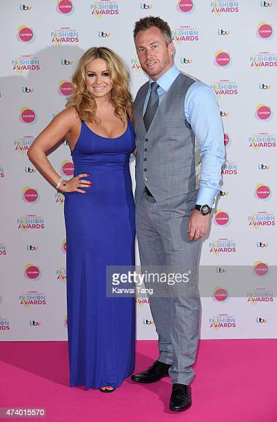 Ola Jordan and James Jordan attends Lorraine's High Street Fashion Awards at Grand Connaught Rooms on May 19 2015 in London England