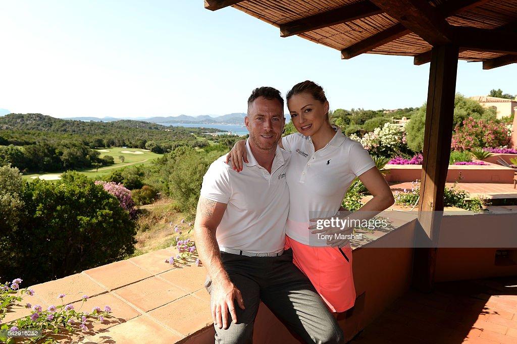 Ola Jordan and James Jordan pose prior to The Costa Smeralda Invitational golf tournament at Pevero Golf Club - Costa Smeralda on June 25, 2016 in Olbia, Italy.