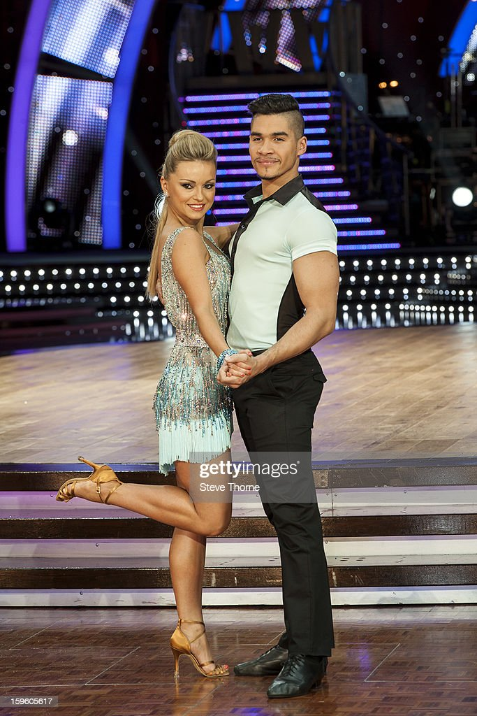 Ola Jordan and Louis Smith attend a photocall ahead of the Strictly Come Dancing Live Tour at NIA Arena on January 17, 2013 in Birmingham, England.