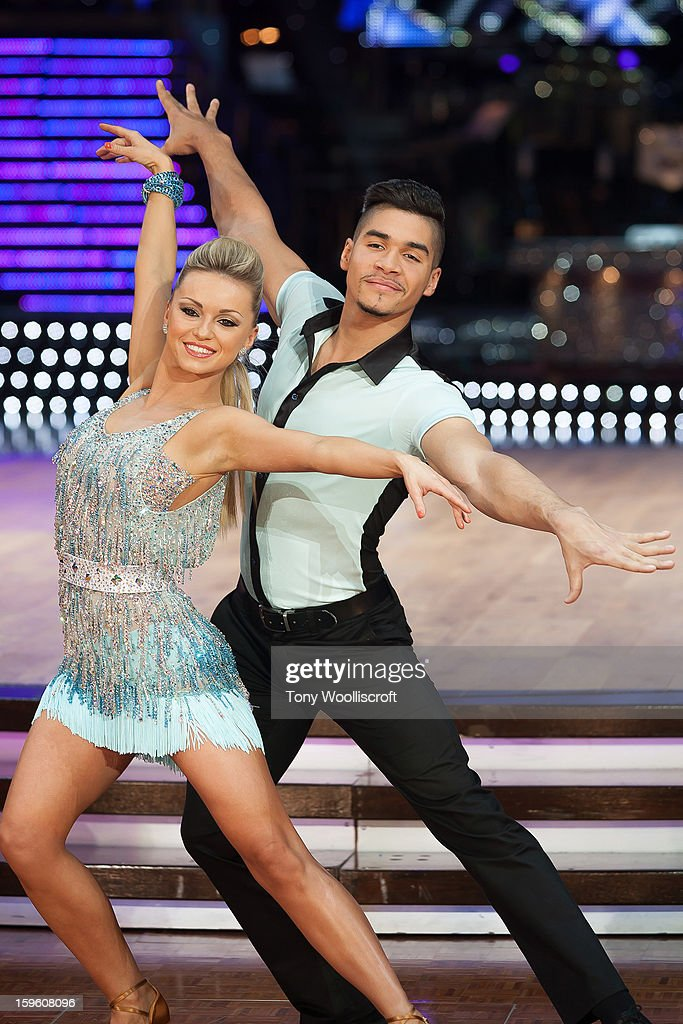 Ola Jordan and Louis Smith attends a photocall ahead of the Strictly Come Dancing Live Tour at NIA Arena on January 17, 2013 in Birmingham, England.