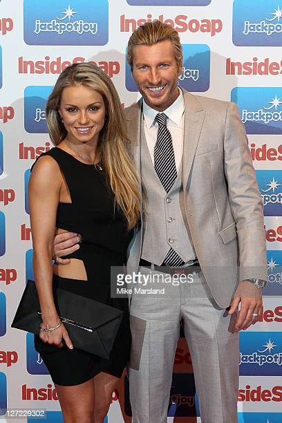Ola Jordan and Robbie Savage from Strictly Come Dancing attend the Inside Soap Awards 2011 at Gilgamesh on September 26 2011 in London England