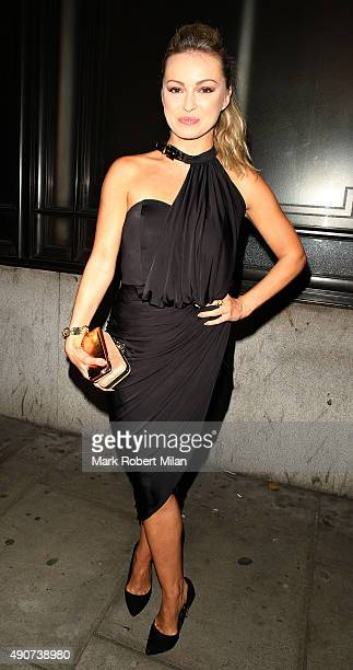 Ola Jordan at the Reality TV awards on September 30 2015 in London England