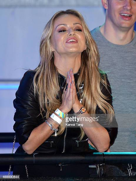 Ola Jordan attends the Celebrity Big Brother final at Elstree Studios on September 12 2014 in Borehamwood England