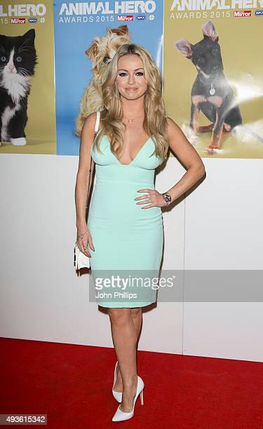 Ola Jordan attends the Daily Mirror RSPCA Animal Hero AWards at 8 Northumberland Avenue on October 21 2015 in London England