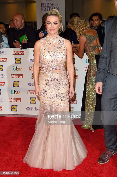 Ola Jordan attends the Pride of Britain awards at The Grosvenor House Hotel on September 28 2015 in London England