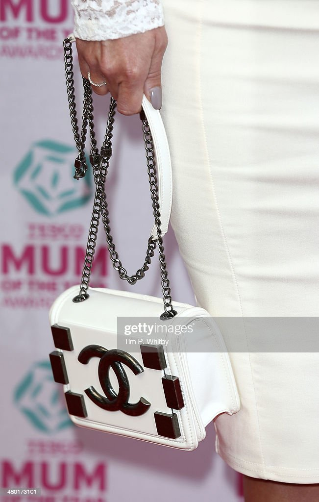 <a gi-track='captionPersonalityLinkClicked' href=/galleries/search?phrase=Ola+Jordan&family=editorial&specificpeople=4958189 ng-click='$event.stopPropagation()'>Ola Jordan</a> (bag detail) attends the Tesco Mum of the Year awards at The Savoy Hotel on March 23, 2014 in London, England.