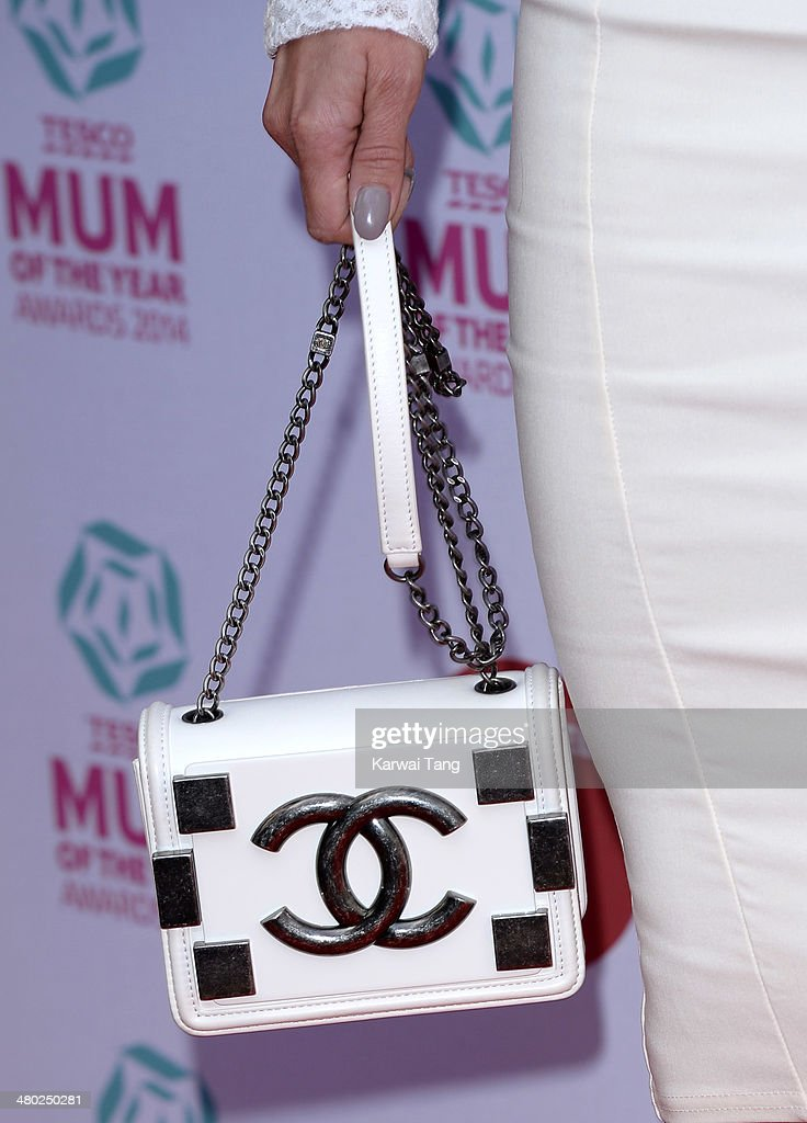Ola Jordan (Bag detail) attends the Tesco Mum of the Year awards at The Savoy Hotel on March 23, 2014 in London, England.