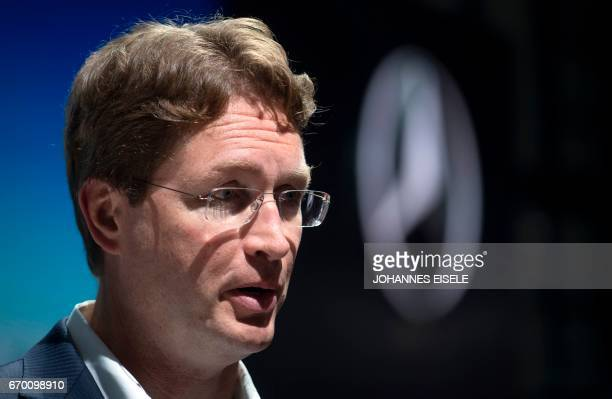 Ola Kaellenius a member of the board of management at Daimler AG is pictured during opening day for the 17th Shanghai International Automobile...