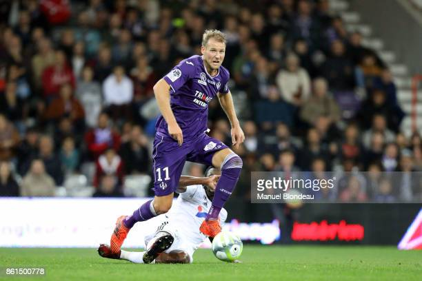 Ola Toivonen of Toulouse during the Ligue 1 match between Toulouse and Amiens SC at Stadium Municipal on October 14 2017 in Toulouse