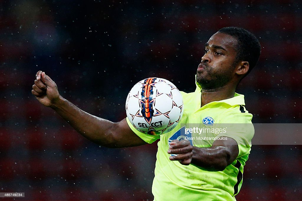 Ola Williams Kamara of Molde FK in action during the UEFA Europa League play off round second leg match between Standard Liege and Molde FK held at...