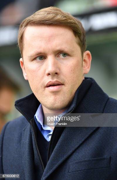 Olaf Rebbe sports director of Wolfsburg looks on during the Bundesliga match between VfL Wolfsburg and Bayern Muenchen at Volkswagen Arena on April...