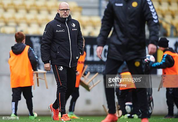 Olafur Kristjansson head coach of Randers FC looks dejected after the Danish Alka Superliga match between AC Horsens and Randers FC at Casa Arena...