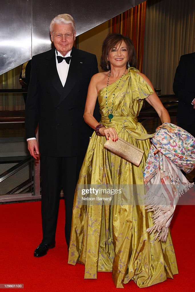 Olafur Ragnar Grimsson, President of Iceland (L) and Mrs. Dorrit Moussaieff attend the American Scandinavian Foundation's Centennial Ball at The Hilton Hotel on October 21, 2011 in New York City.