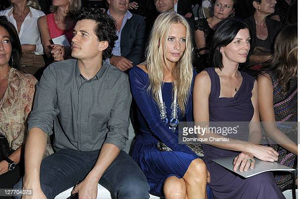 Olando Boom Poppy Delevinge and Liberty Ross attend the Christian Dior Ready to Wear Spring / Summer 2012 show during Paris Fashion Week at Musee...