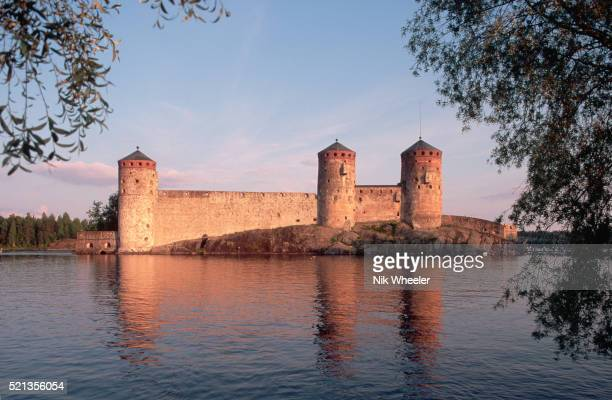 Olavinlinna Castle in the Pihlajavesi River