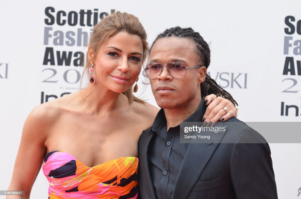 Olcay Gulsen with fiance <a gi-track='captionPersonalityLinkClicked' href=/galleries/search?phrase=Edgar+Davids&family=editorial&specificpeople=213130 ng-click='$event.stopPropagation()'>Edgar Davids</a> attend Scotland's most high-profile celebration of fashion and style which recognises scottish designers who have made a significant contribution to the industry at The Clyde Auditorium on June 11, 2012 in Glasgow, Scotland.