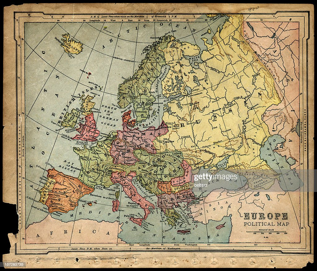 Old S Political Europe Map Stock Photo Getty Images - Sweden map 1800