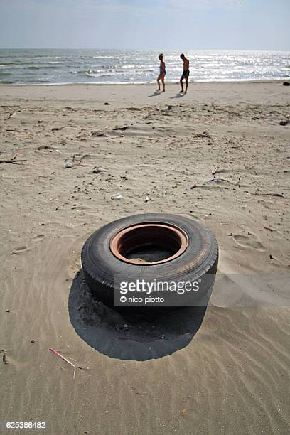 Old Abandoned Car Wheel Tyre