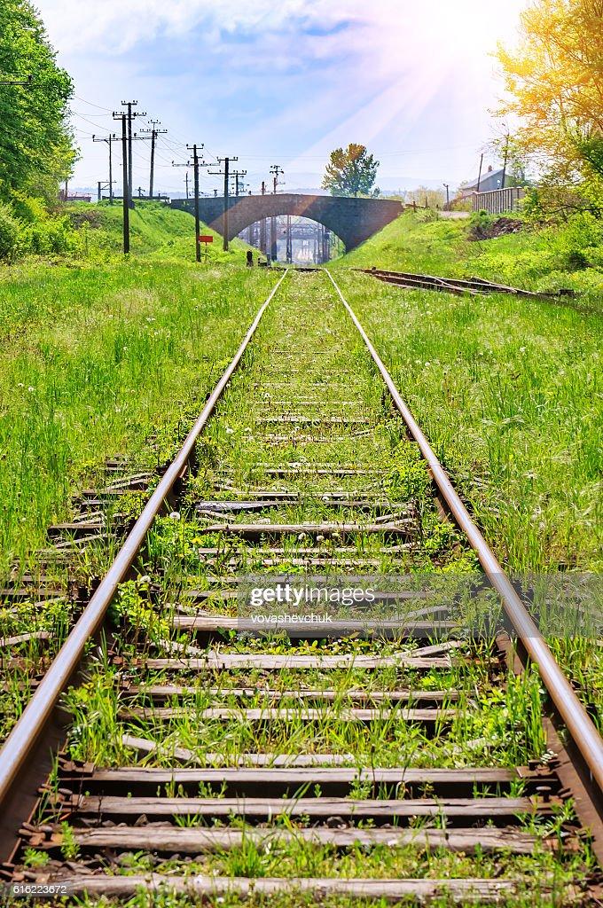 old abandoned railway : Stock Photo