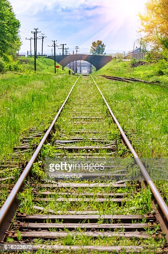 old abandoned railway : Stock Photo