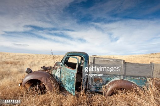 Old Abandoned Truck on the Plains