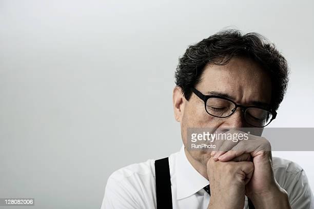 old age businessman thinking,portrait