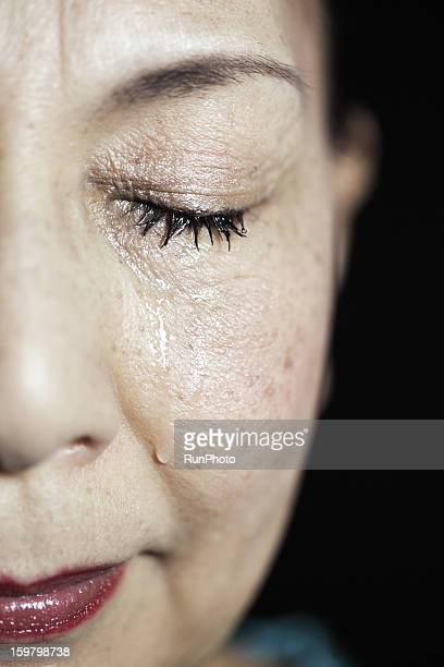 Old aged woman crying