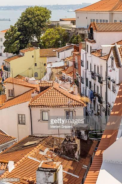 Old Alfama rooftops and balconies