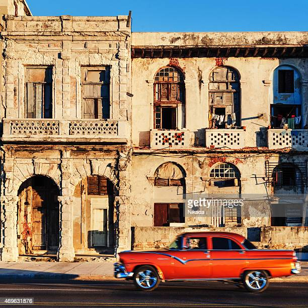 Old American car on Havana street