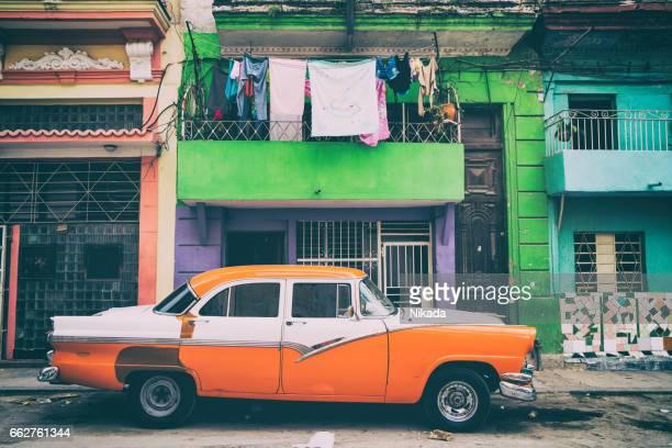 American les voitures sur la rue de La Havane, Cuba
