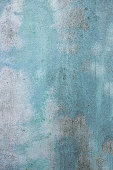 old and dirty blue color cement wall surface as textured background