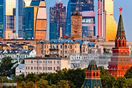 Old and new architecture of Moscow