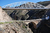 Old and new bridges in Alpujarras, Granada, Andalusia, Spain