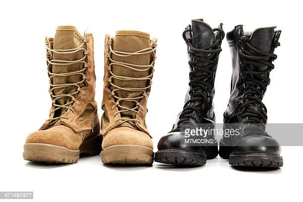 Old and New School Combat Boots