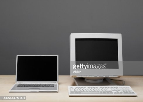 Old and new technology, still-life : Stock Photo