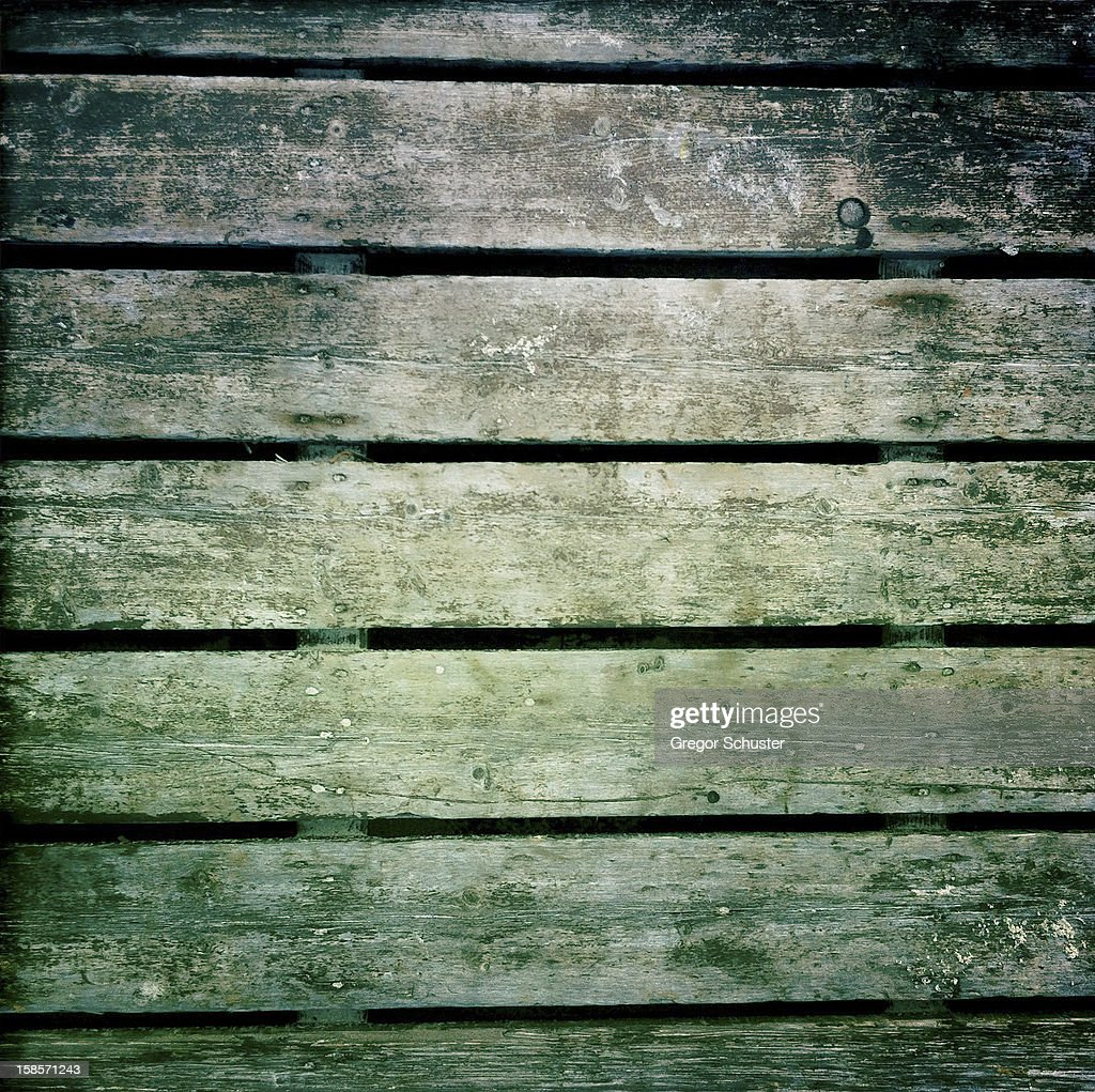 Old and shabby wooden board panels : Stock Photo