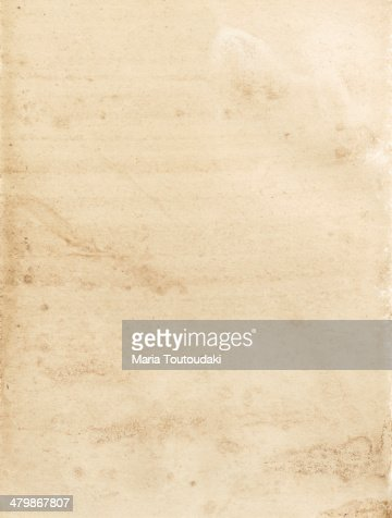 Old and stained piece of paper
