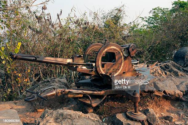 Old antiaircraft gun